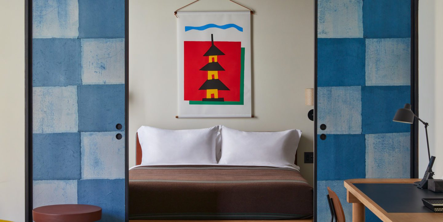 Ace Hotel Kyoto bedroom with sliding doors