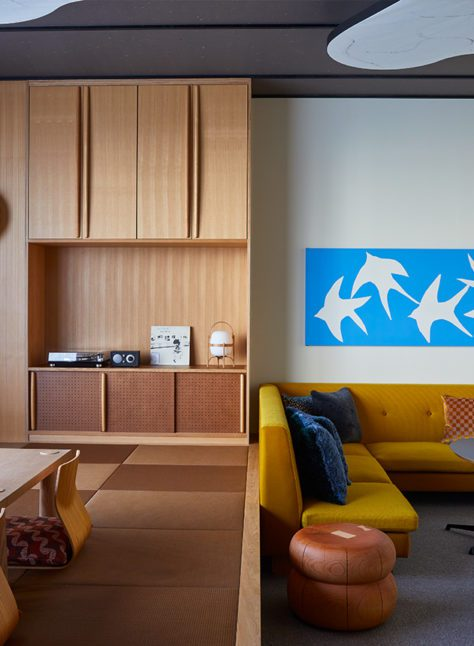 Tatami suite with eating and lounge areas